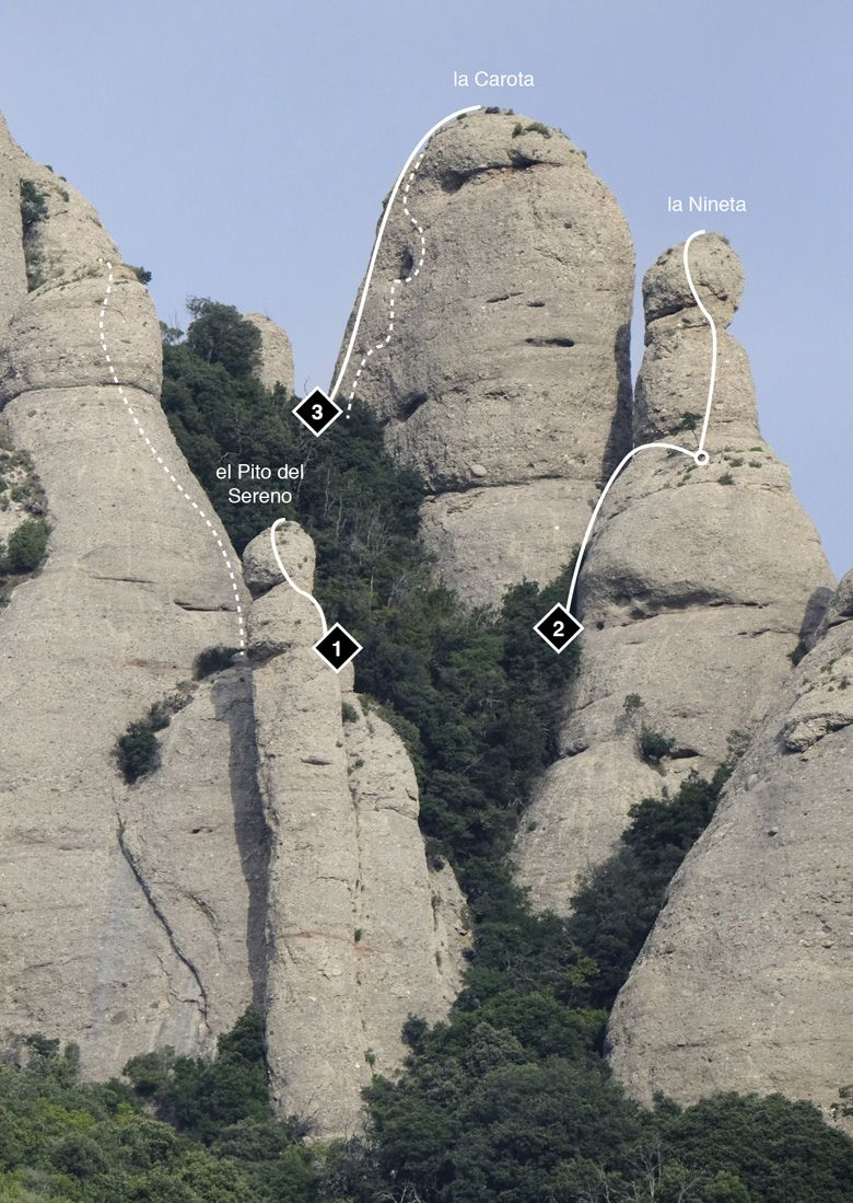 Montserrat, escalada Trinitats