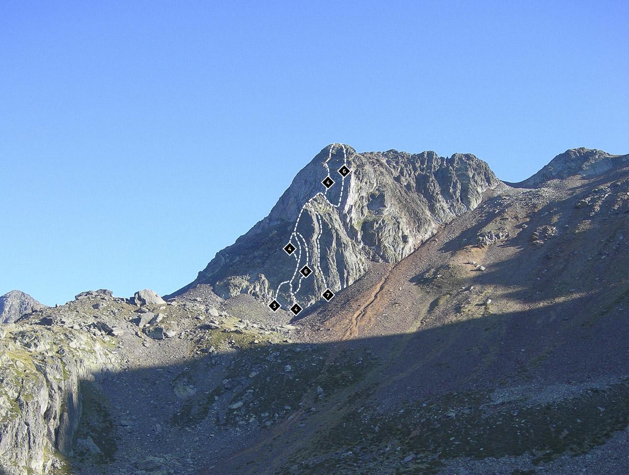 Escalada Vallferrera, Pic d'Ascorbes