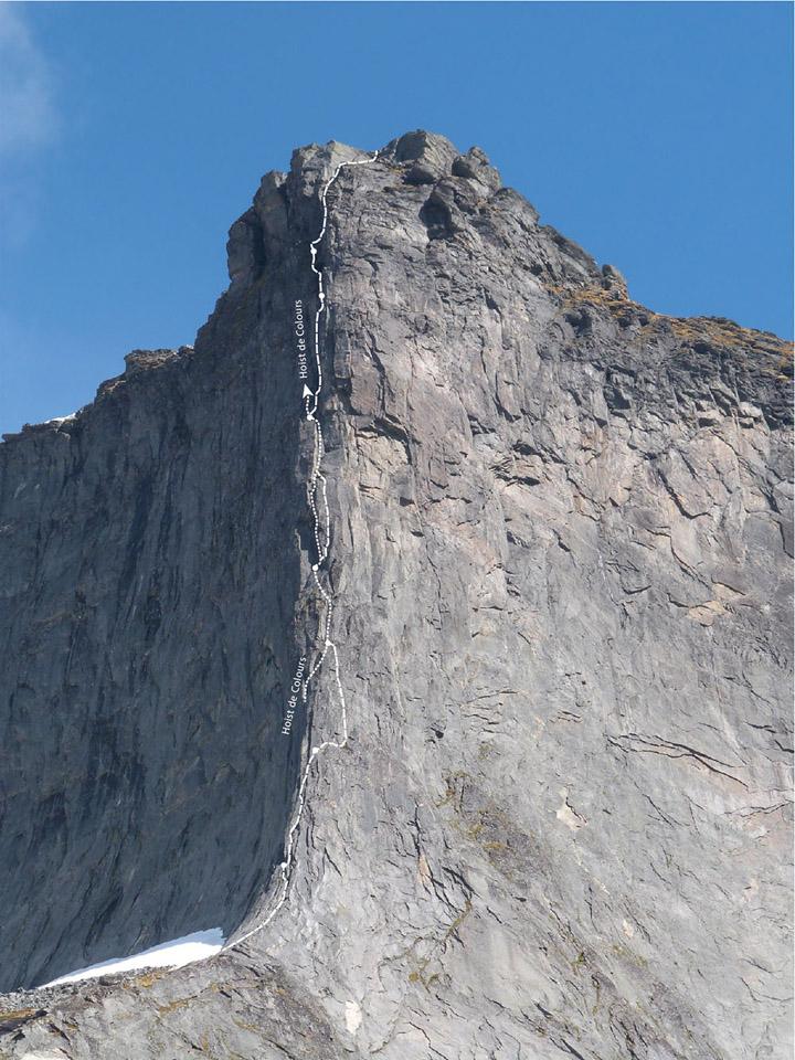 Climbing topo Segltinden